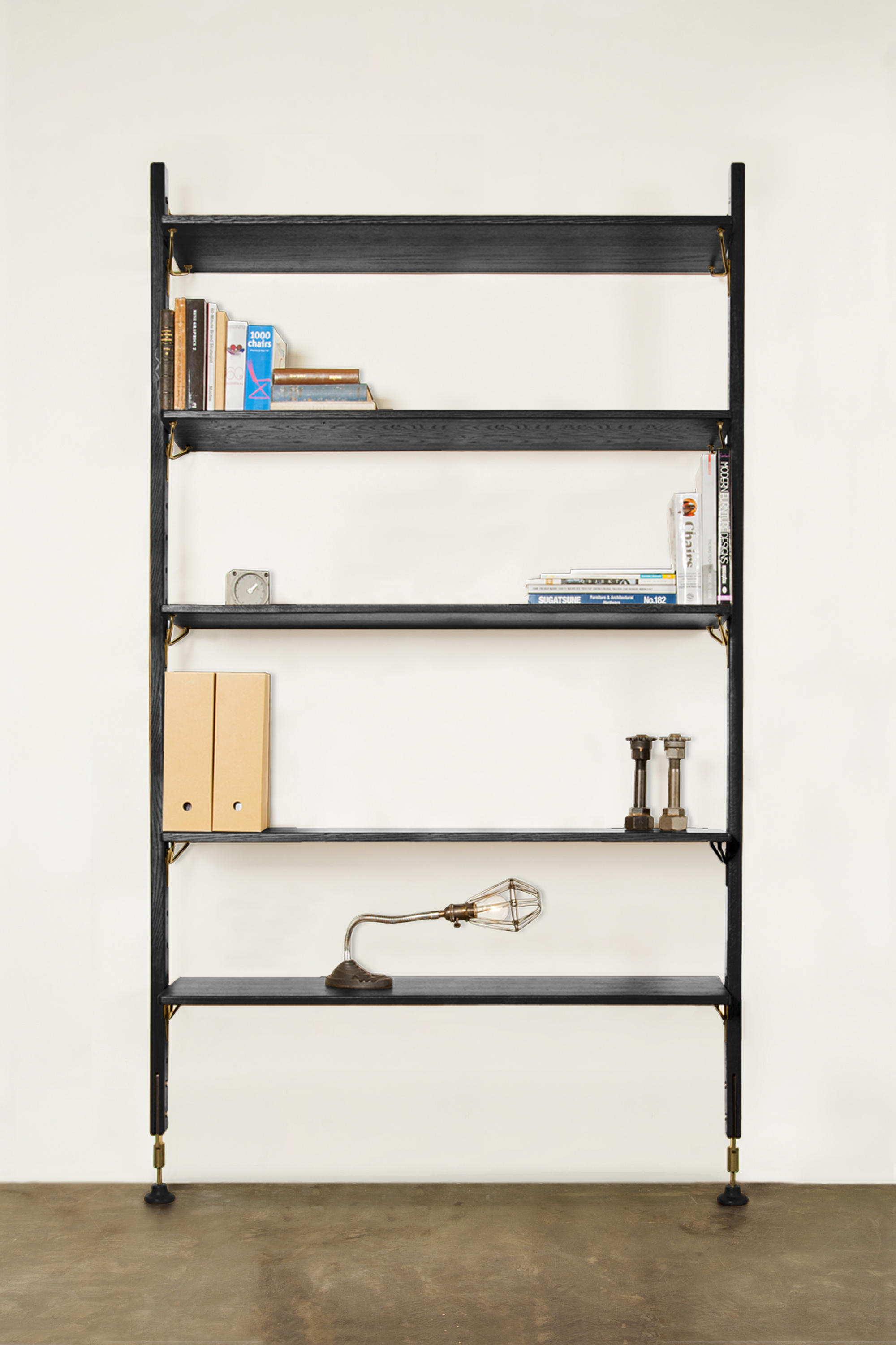 Theo Wall Unit With Large Shelves - Office Shelving Systems