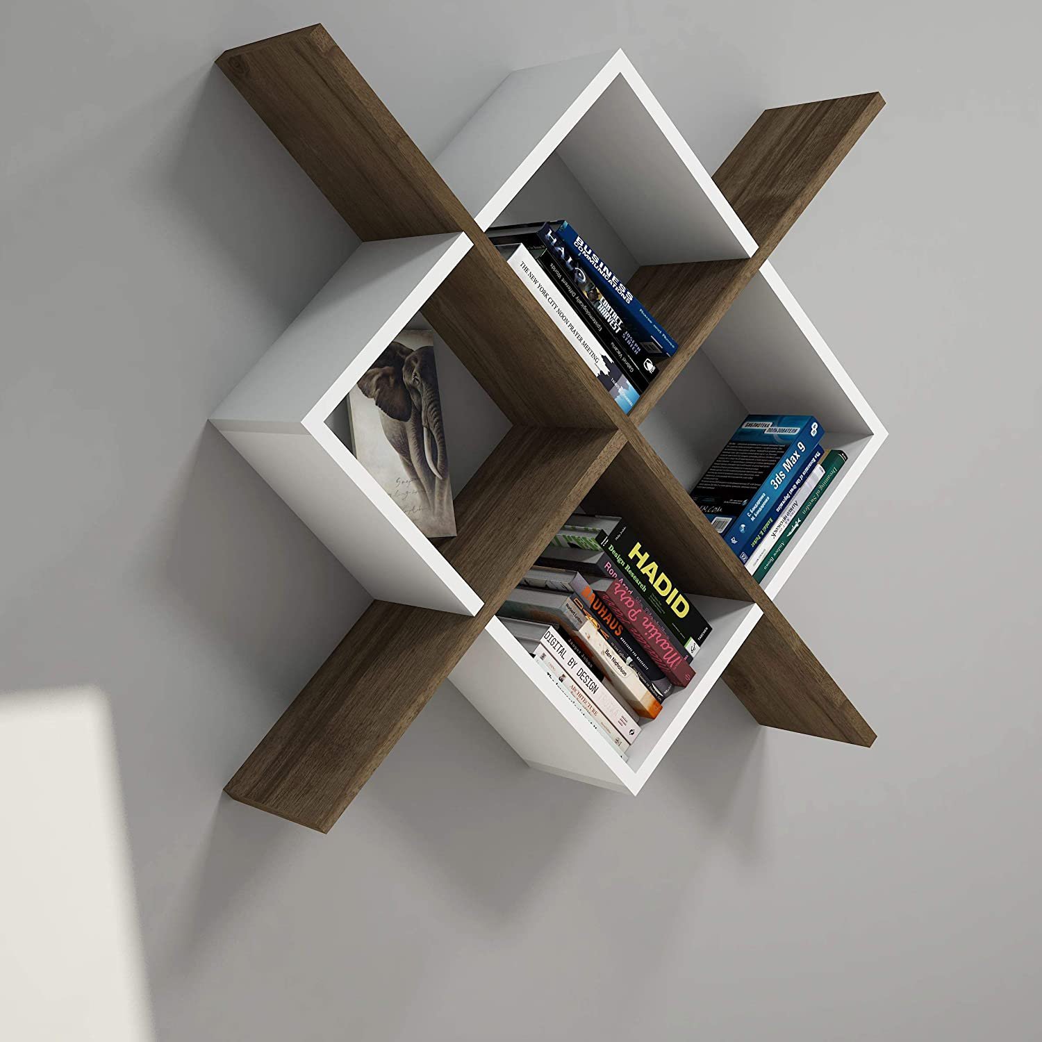 Vivense Semo Wall Mounted Bookcase - Floating Shelves And