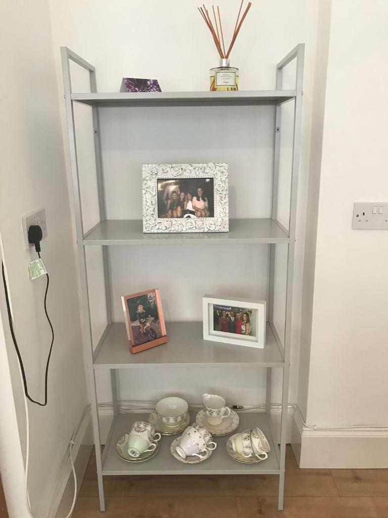 Ikea Draget Shelves / Bookcase - Grey With Rose Gold Screws - Sold   In  Chiswick, London   Gumtree