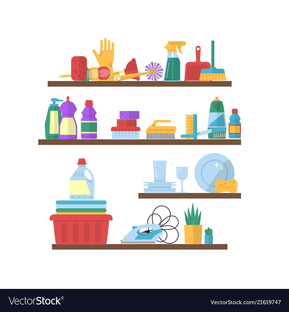 Cleaning Flat Elements On Shelves
