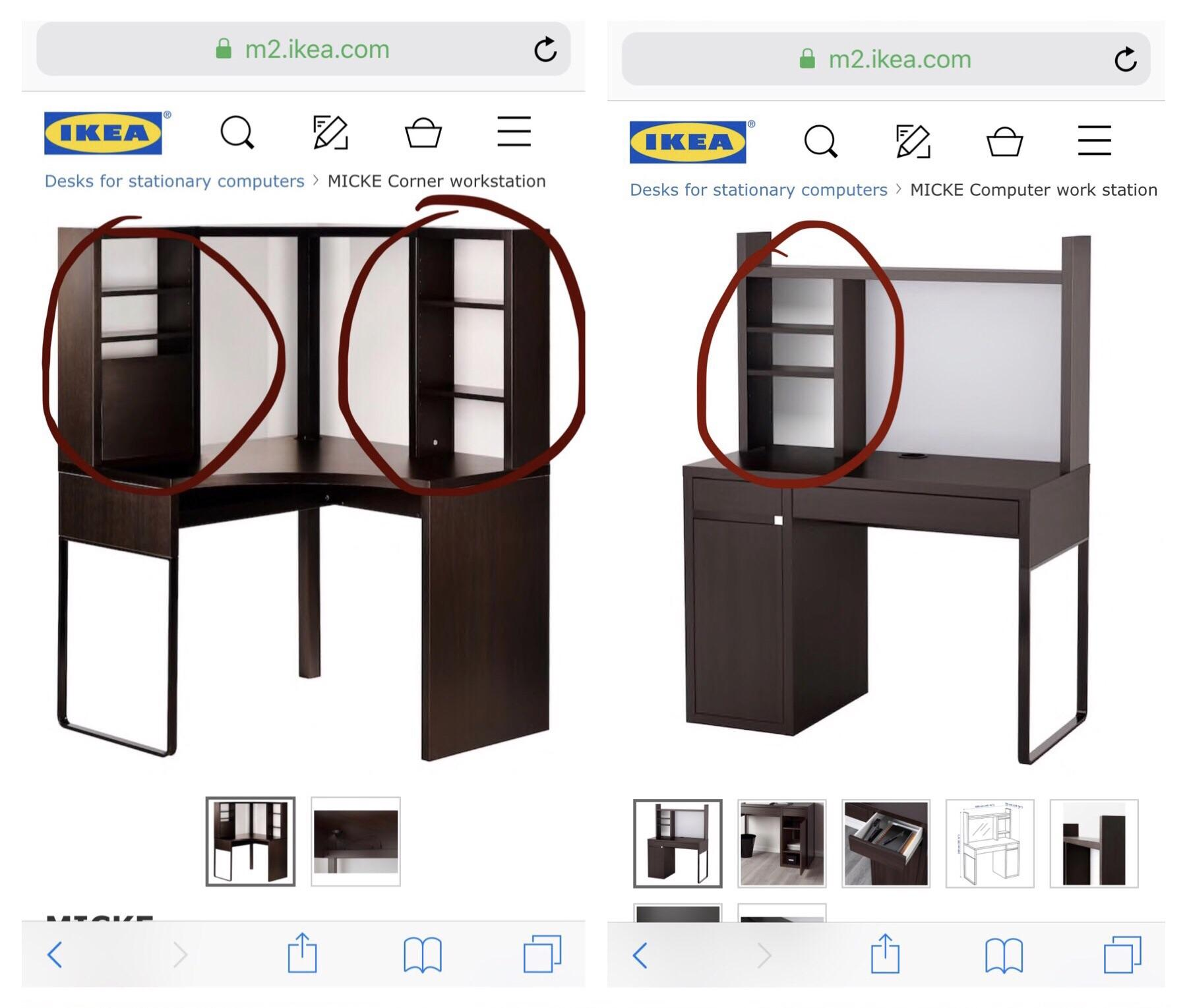 Does Anyone Know How Wide The Shelves On The Micke Are? : Ikea