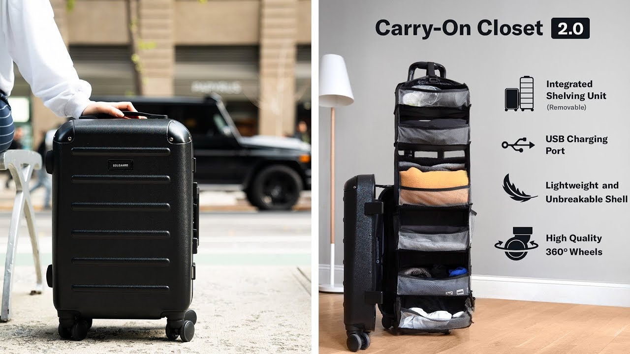 Carry-on Closet 20 - Suitcase With Built In Shelves