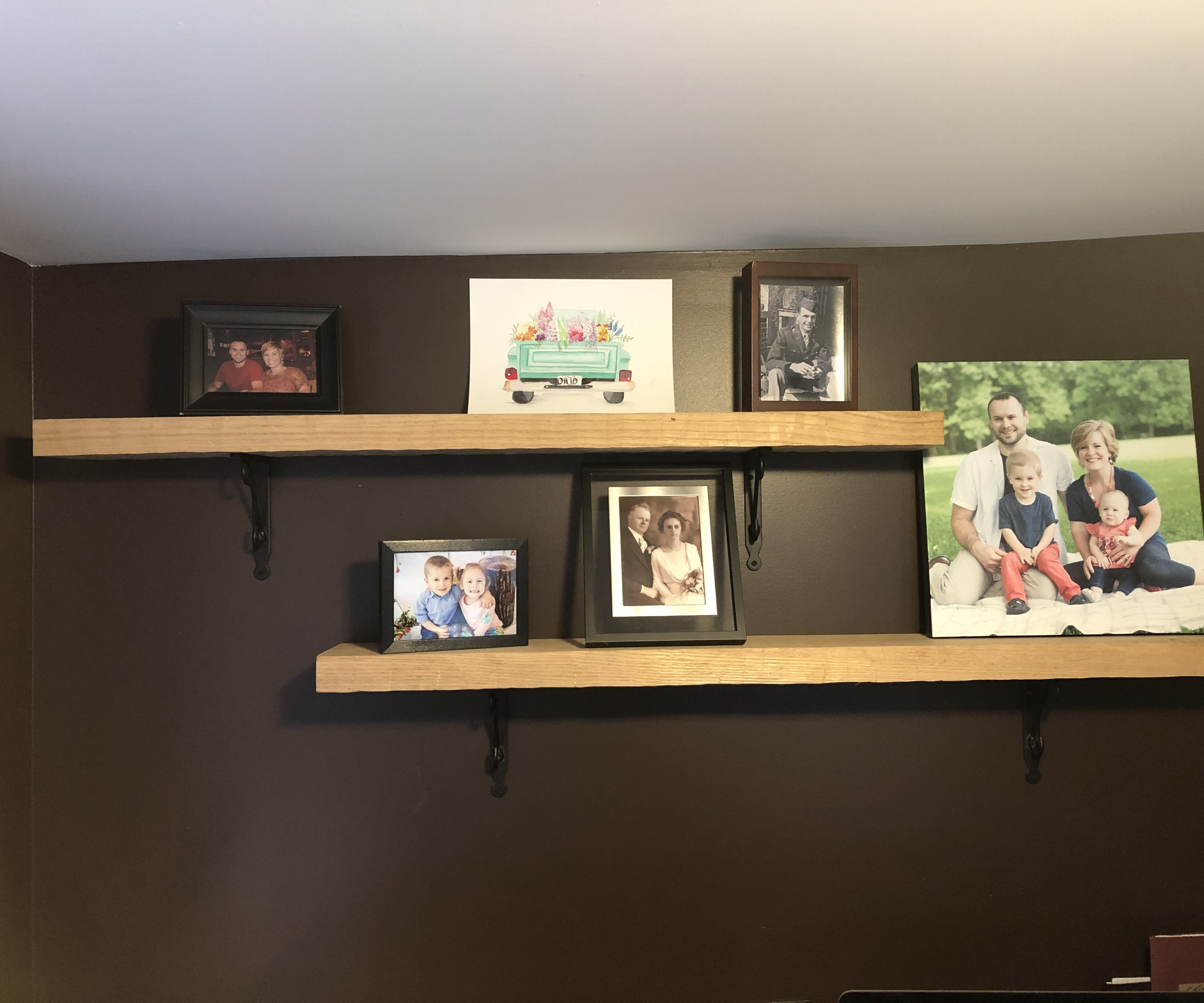 Wrought Iron And Hand Hewn Oak Shelves : 3 Steps - Instructables