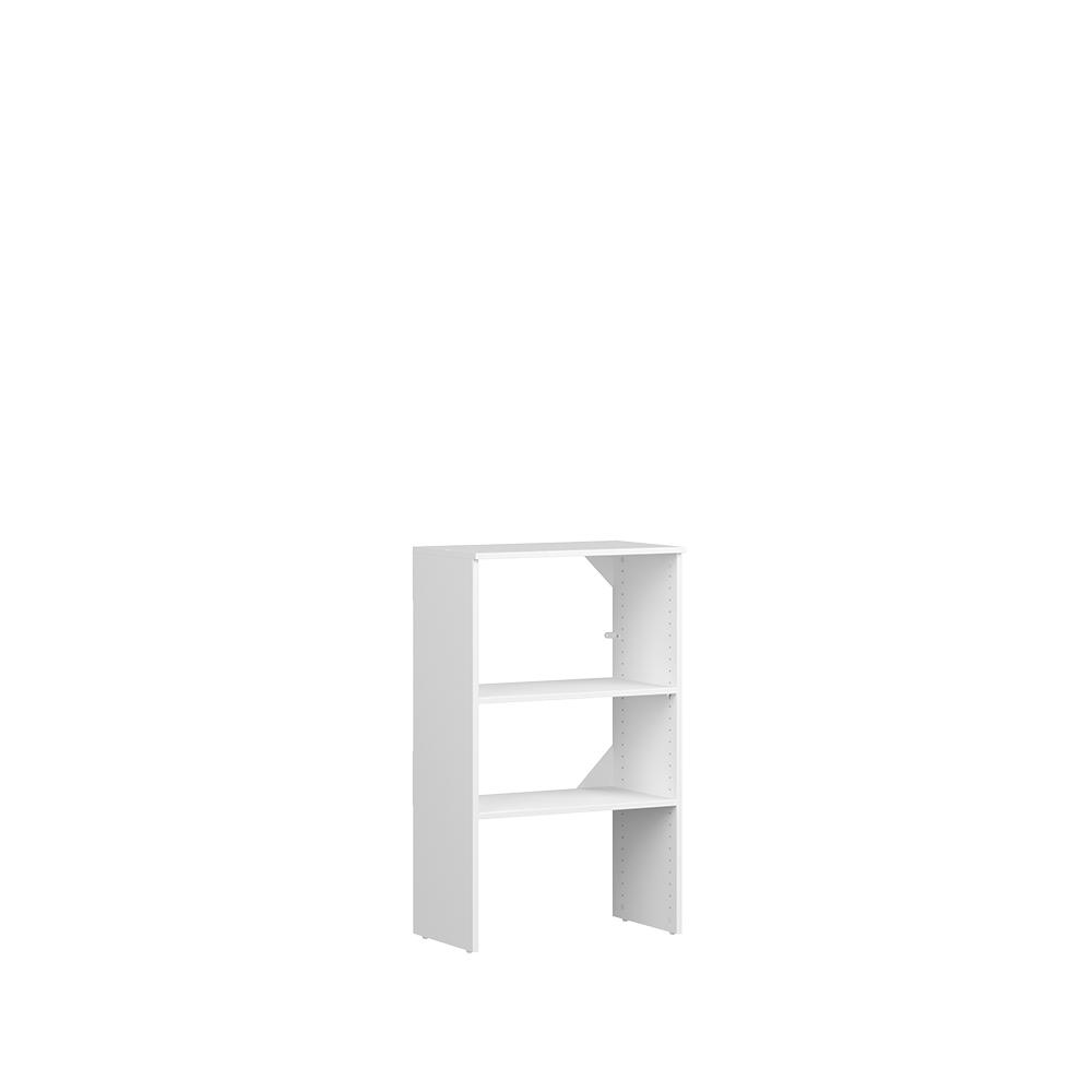 Closetmaid Style+ 15 In D X 25 In W X 41 In H White Melamine 4-shelves  Stackable Base Unit Closet System