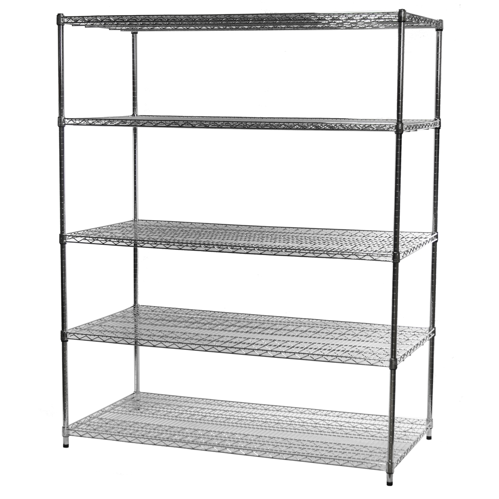 """Wire Shelving Units With Five Shelves- 30""""d X 60""""w"""