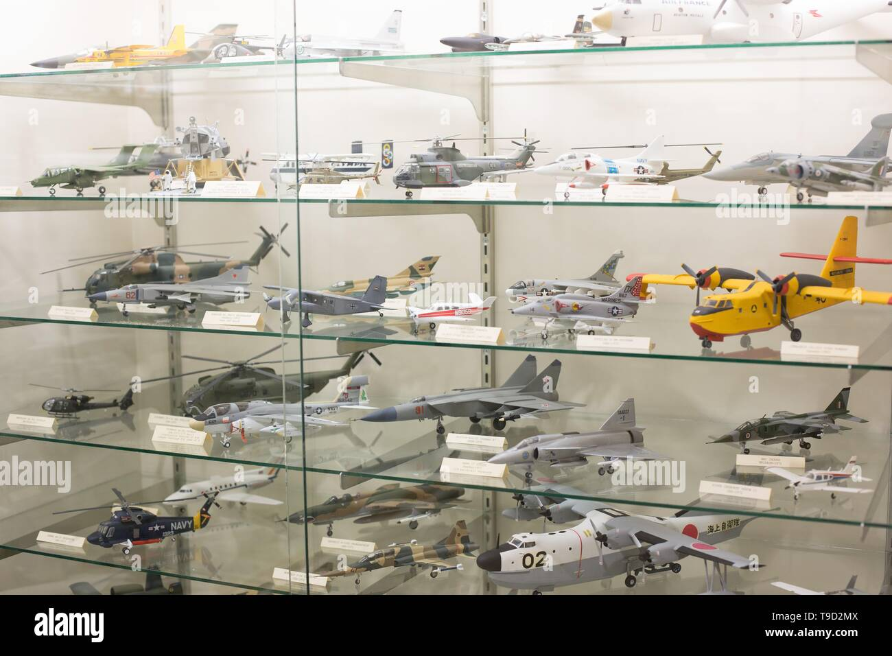 Shelves Of Model Airplanes On Display At The Oregon Air And