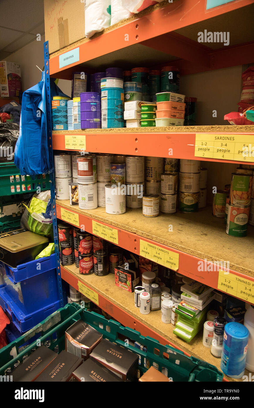 The Shelves Of A Food Bank In London Stock Photo: 255301564