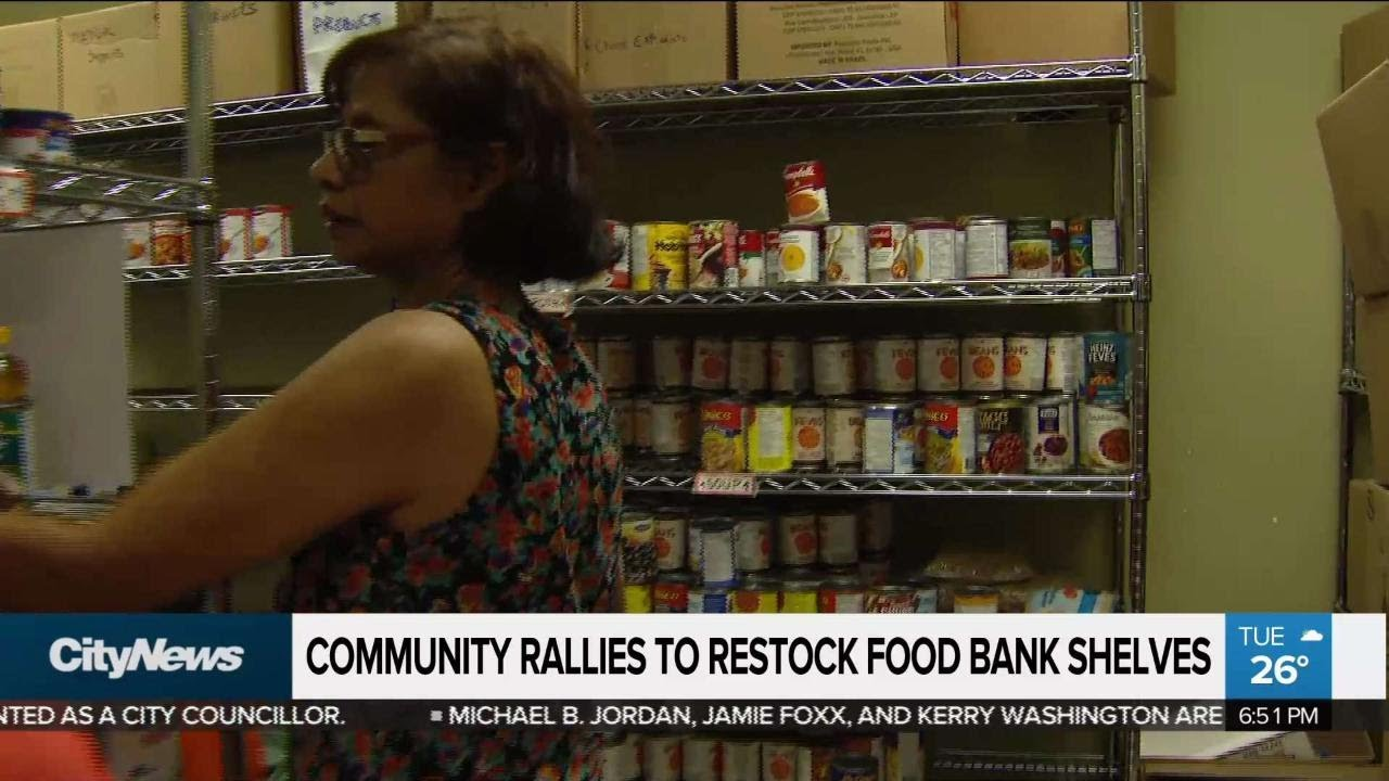 Community Steps Up To Fill Food Bank Shelves