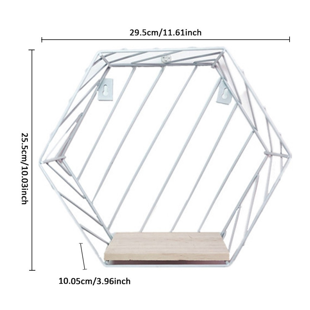 Us $1159 9% Off wall Hemp Rope Partition Innovative Bathroom Shelves Wall  Hanging Hexagonal Iron Shelf Decoration-in Storage Holders & Racks From