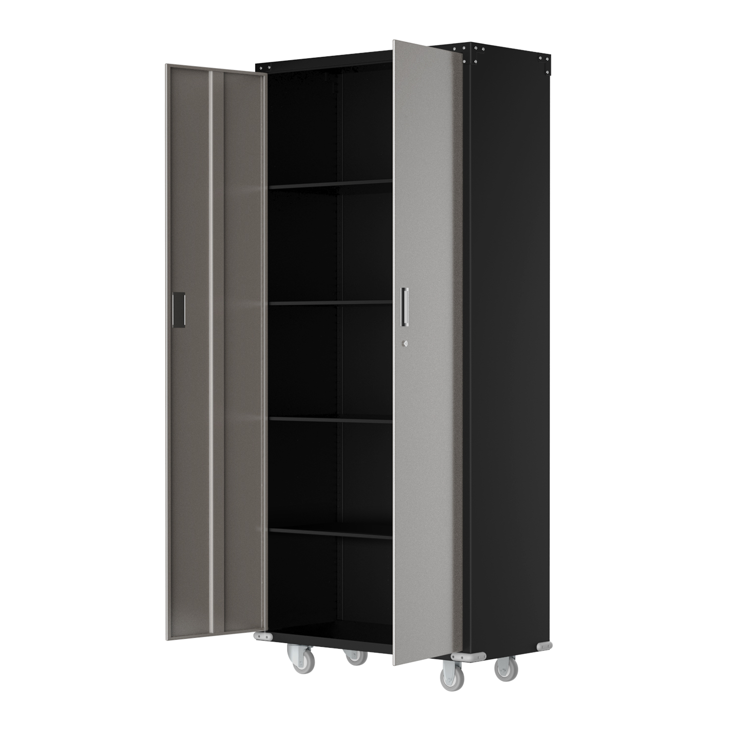 Details About Heavy Duty Commercial Metal Rolling Tool Storage Cabinet W/ 4  Shelves & Key Lock