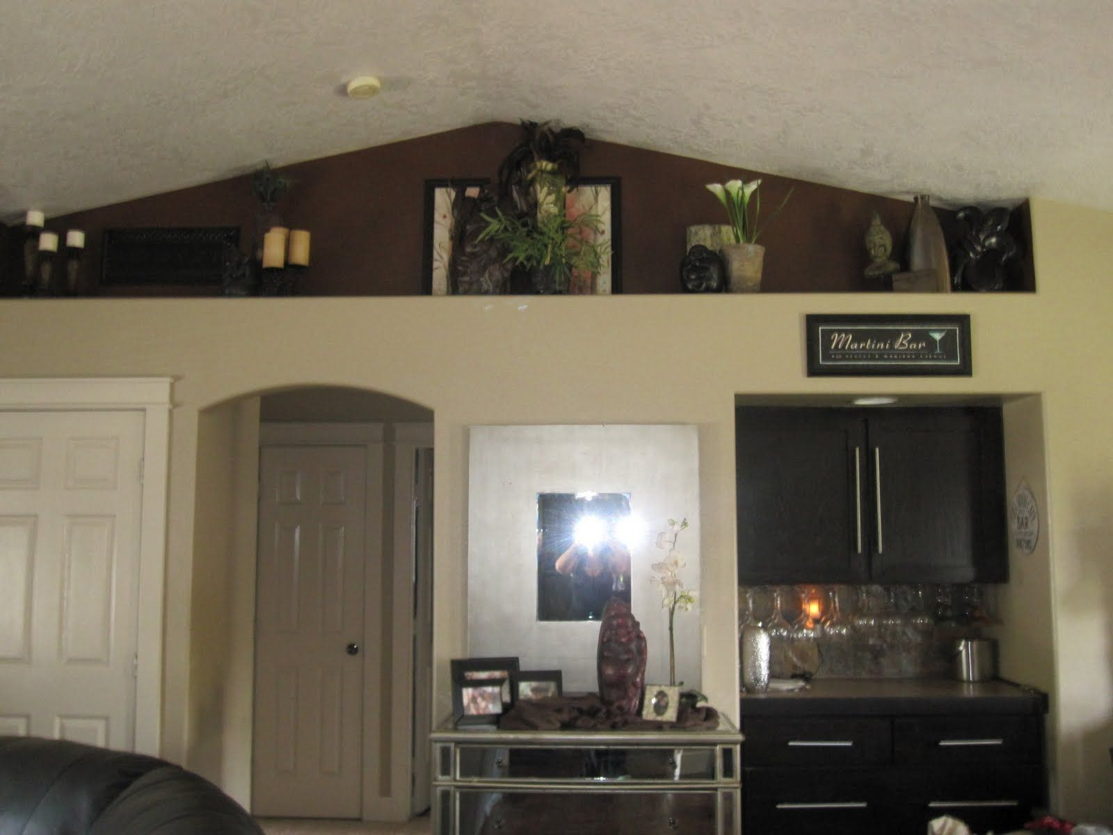 Vaulted Ceilings With Shelf Ideas   Plant Shelves On The