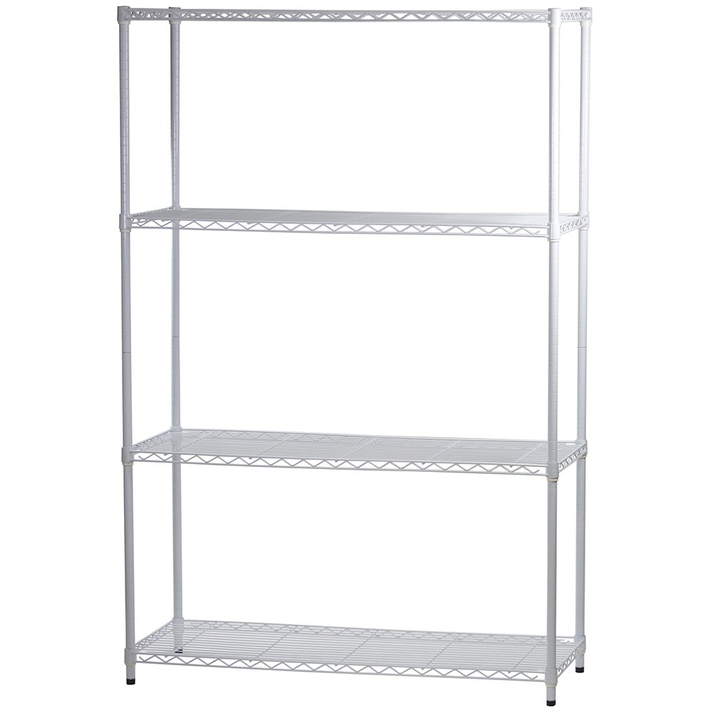 """White Wire Shelving With 4 Shelves - 18""""d X 36""""w X 72""""h"""