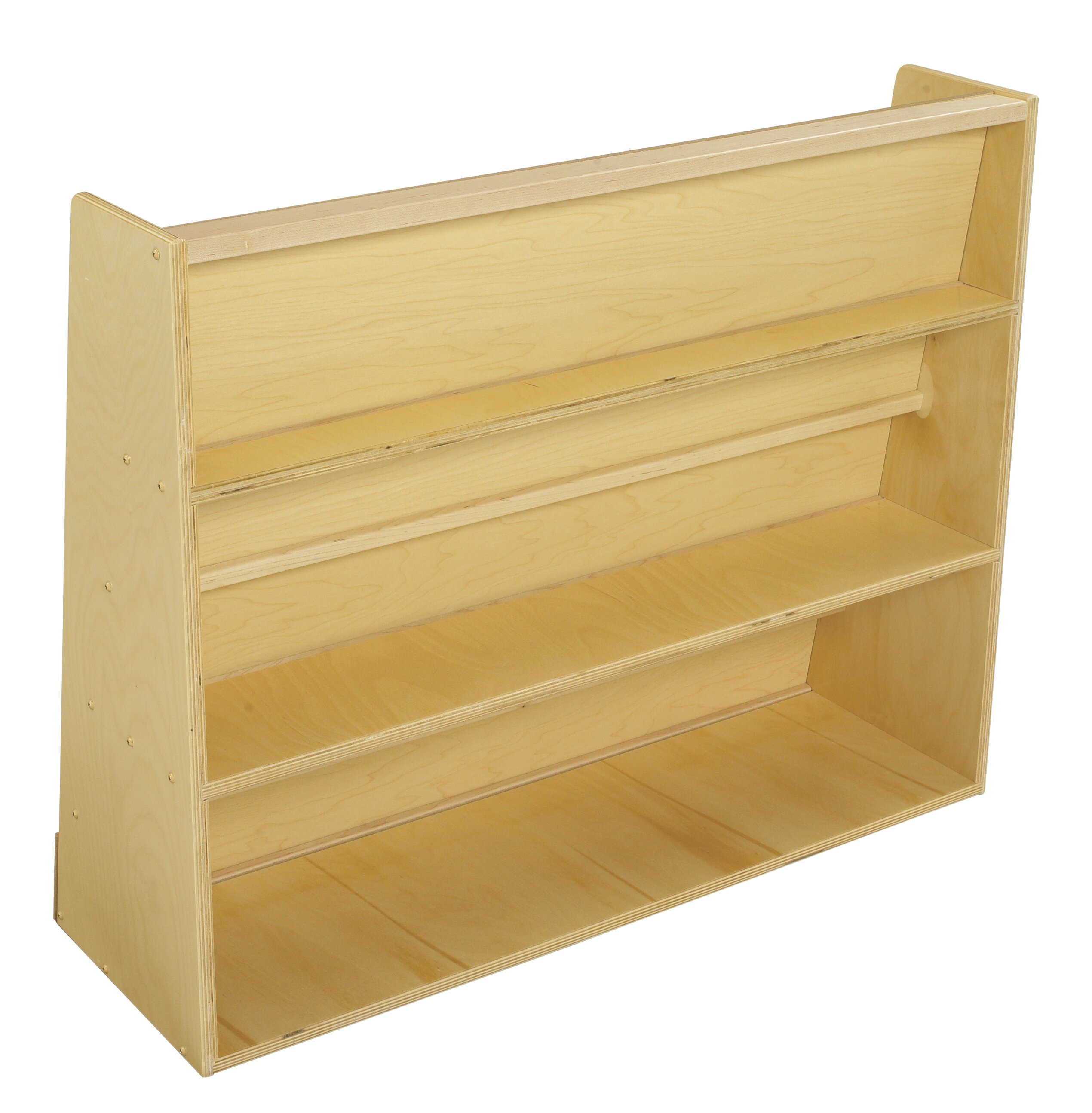 Book Display 5 Compartment Bookshelf With Rear Shelves