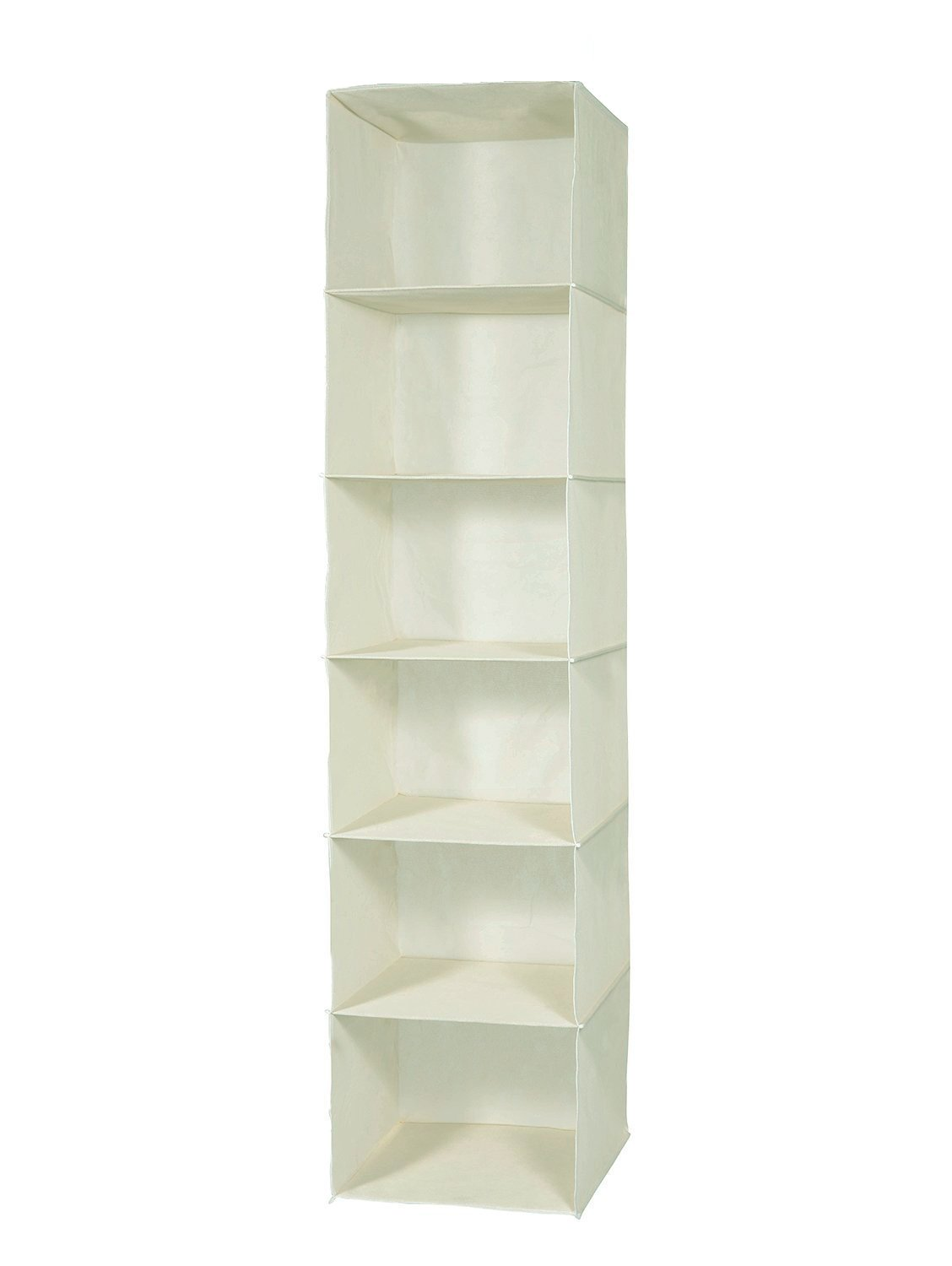 Luxehome Fabric 6 Shelves Hanging Storage Accessory Organizer (beige) …