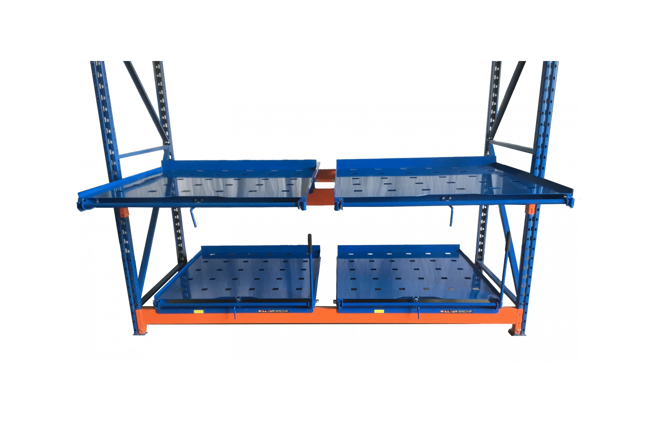 Industrial Roll Out Shelving | Pallet Rack Pull Out Shelves