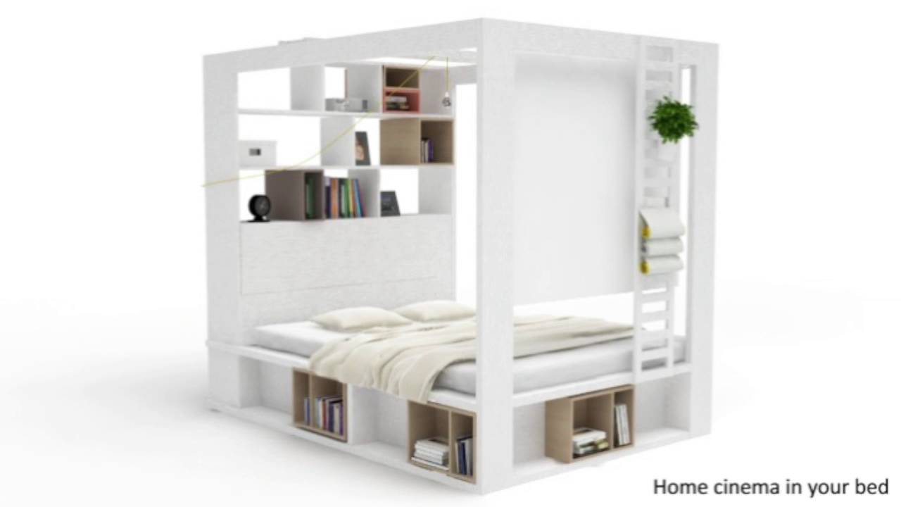 Vox 4you 4 Poster King Bed With Storage & Shelves In White