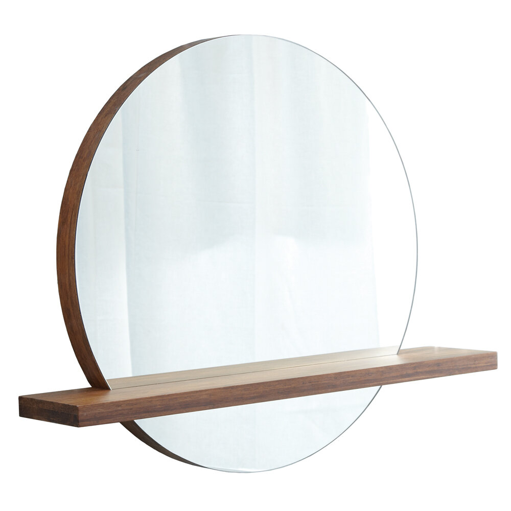 Solace Modern & Contemporary Frameless With Shelves Accent Mirror