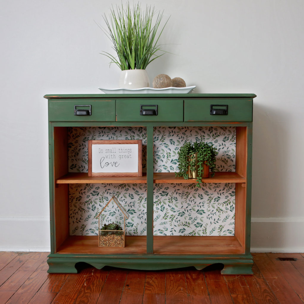 Painted Furniture | Clarke Pond Green Bookcase Shelves - The