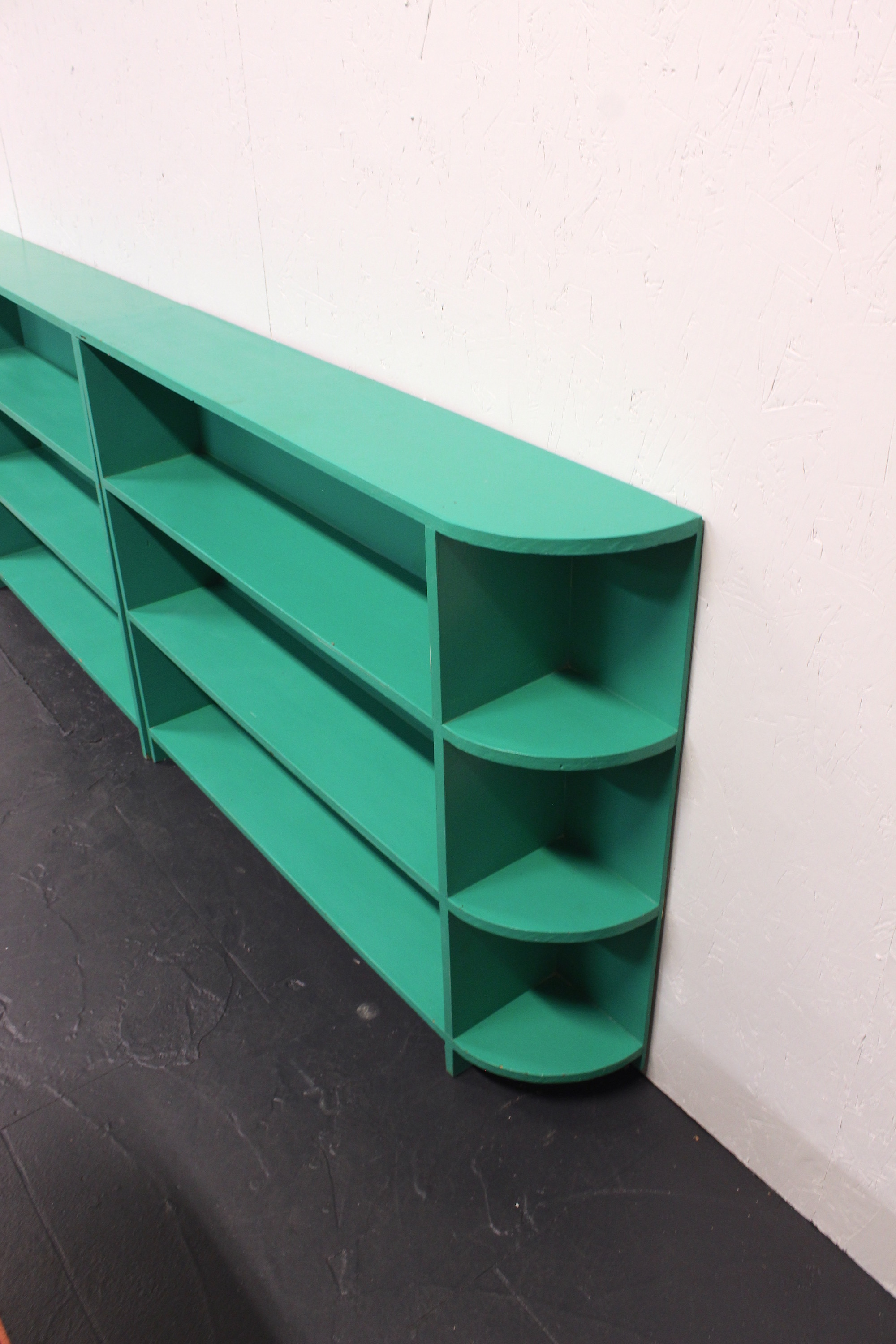 Pair Of Turquoise Painted Bookshelves — Tiny Beaches