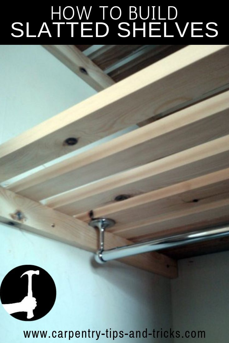 How To Build Slatted Shelves & Racks For Drying Clothes And