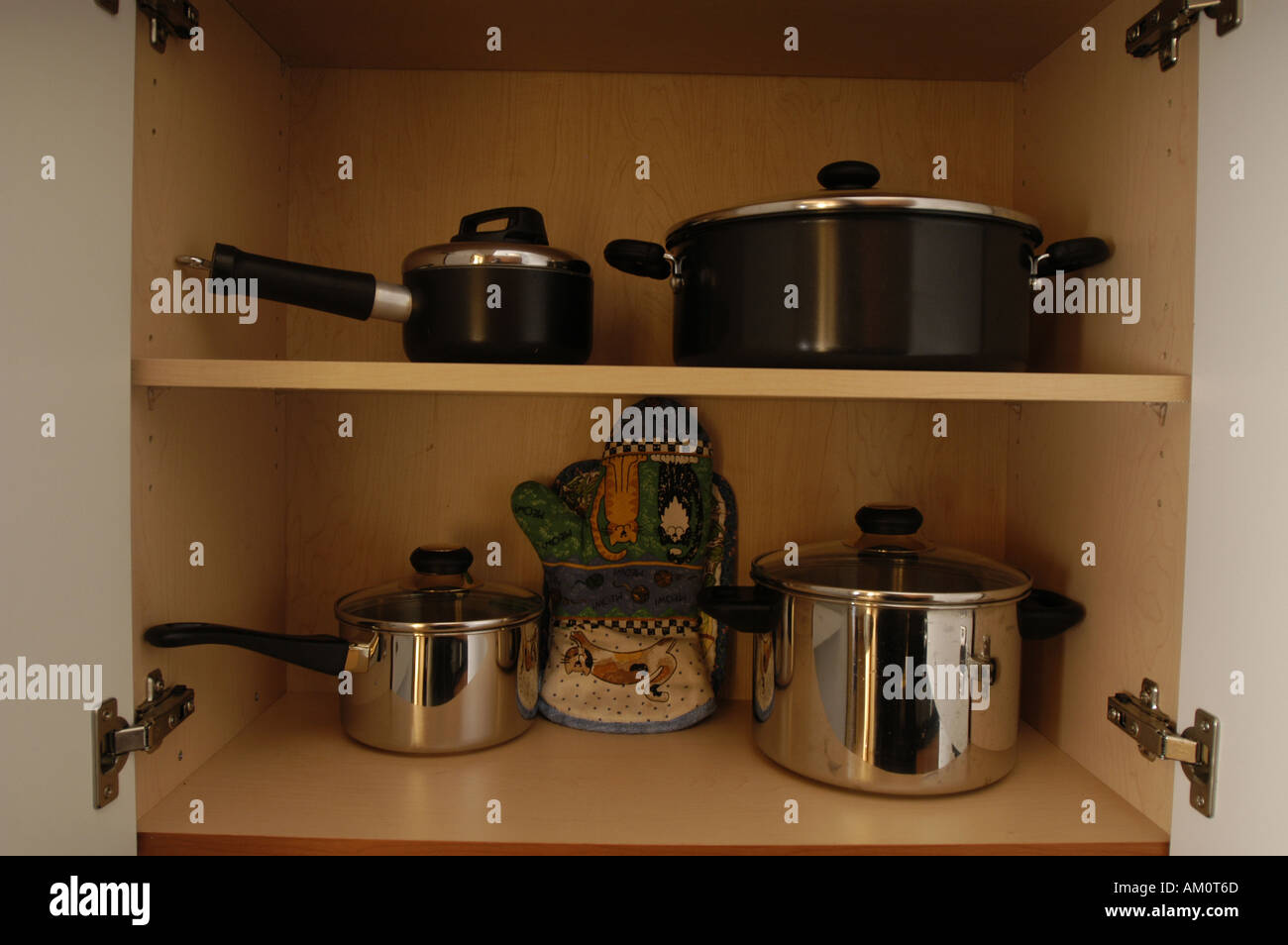 Pots Pans Saucepans Cooking Shelves Cupboards Storage