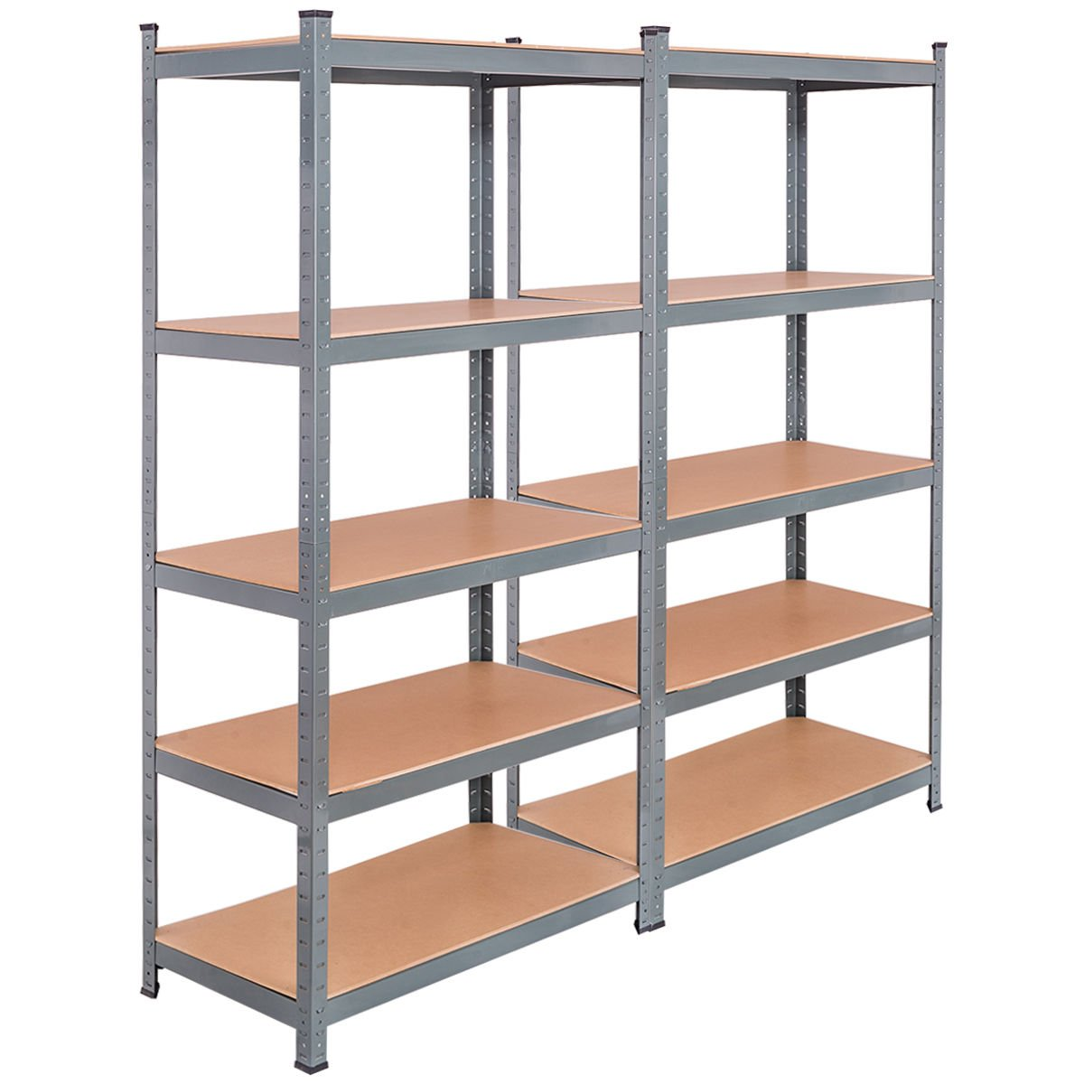 Tangkula 5-tier Storage Shelves Space-saving Storage Rack Heavy Duty Steel  Frame Organizer High Weight Capacity Multi-use Shelving Unit For Home