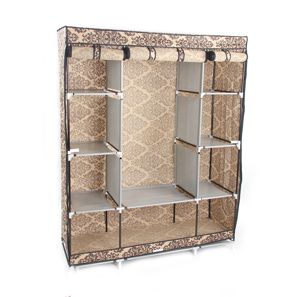 Details About Heavy Duty Portable Closet Storage Holder Wardrobe Clothes  Rack With Shelves