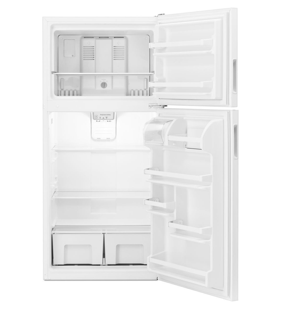 Amanaâ® 30-inch Wide Top-freezer Refrigerator With Glass Shelves – 18 Cu Ft