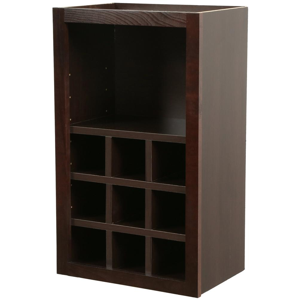 Hampton Bay Shaker Assembled 18x30x12 In Wall Flex Kitchen Cabinet With  Shelves And Dividers In Java