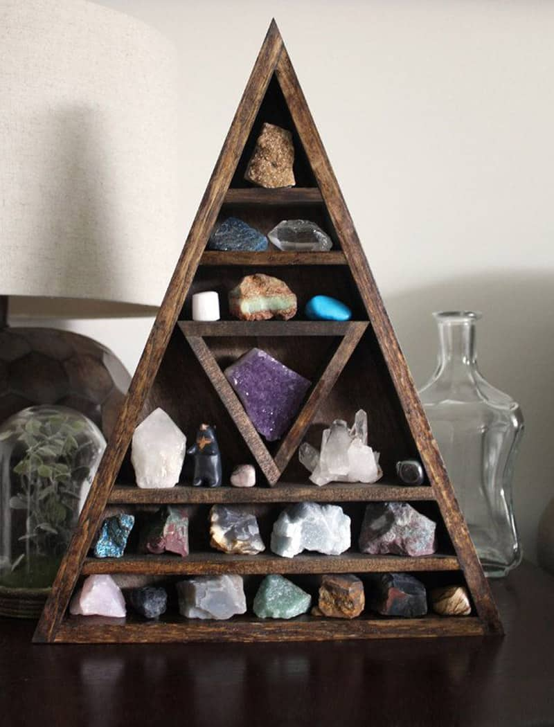 Wooden Triangle Shelves For Your Modern And Contemporary Interiors