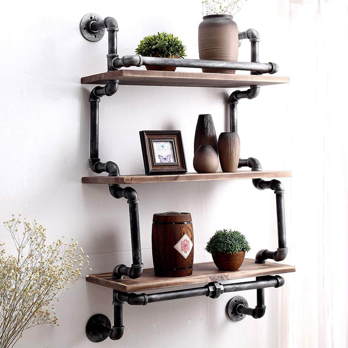 25 Pipe Shelves To Add Rustic Flair To Your Home • Insteading