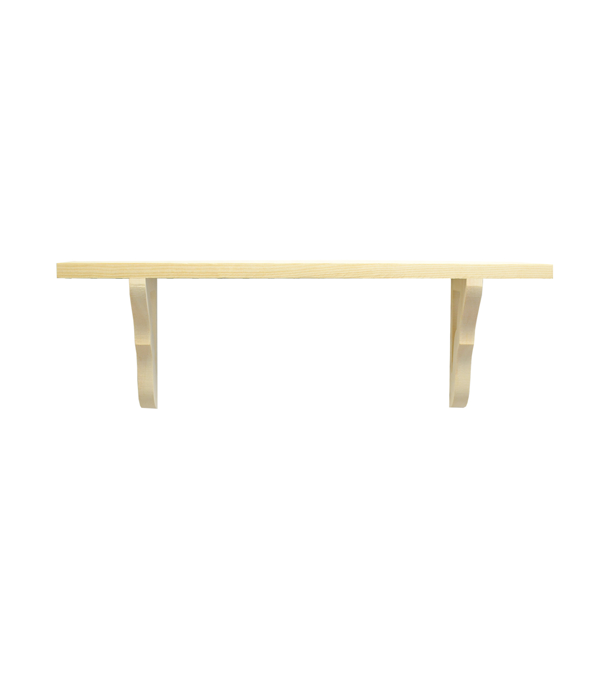 Fab Lab 3 Pk Pine Wood Hanging Shelves With Scallop Detail