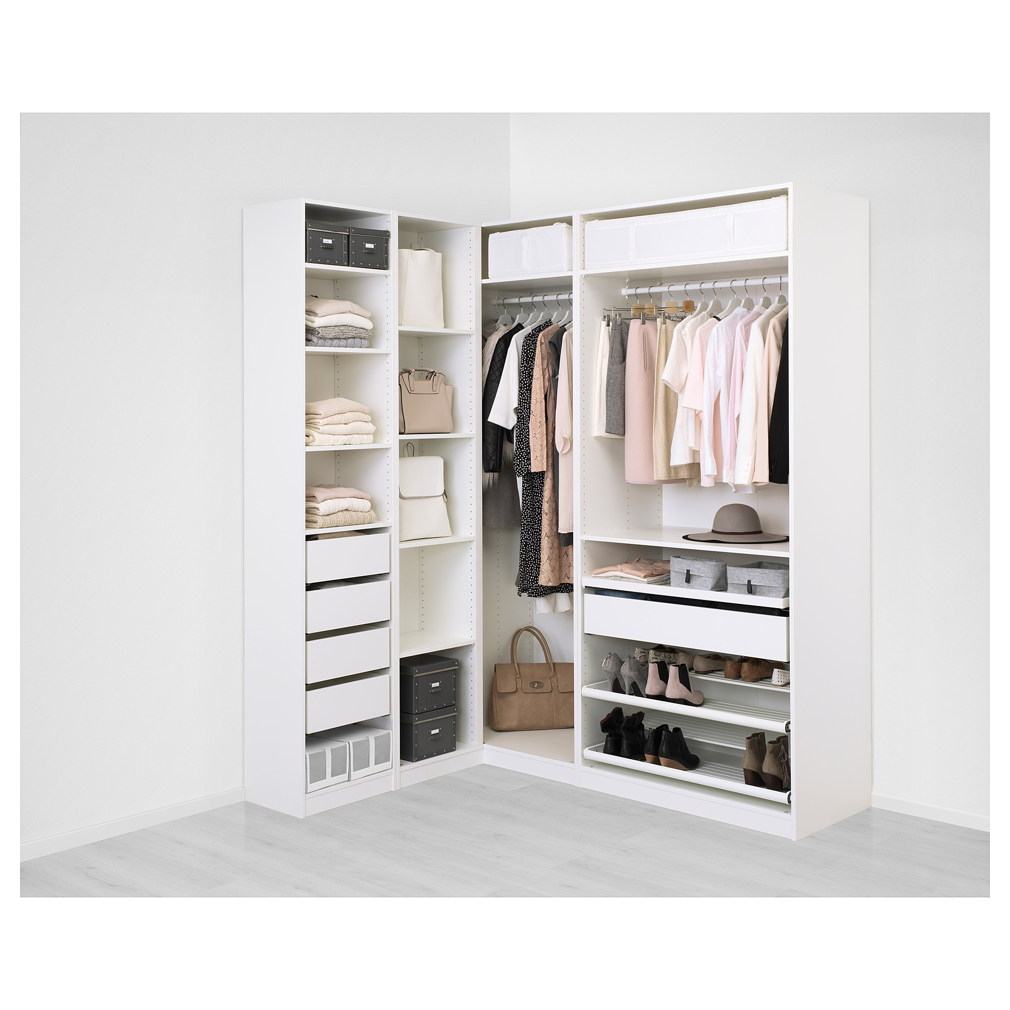 Pax Add-on Corner Unit With 4 Shelves - White - Ikea