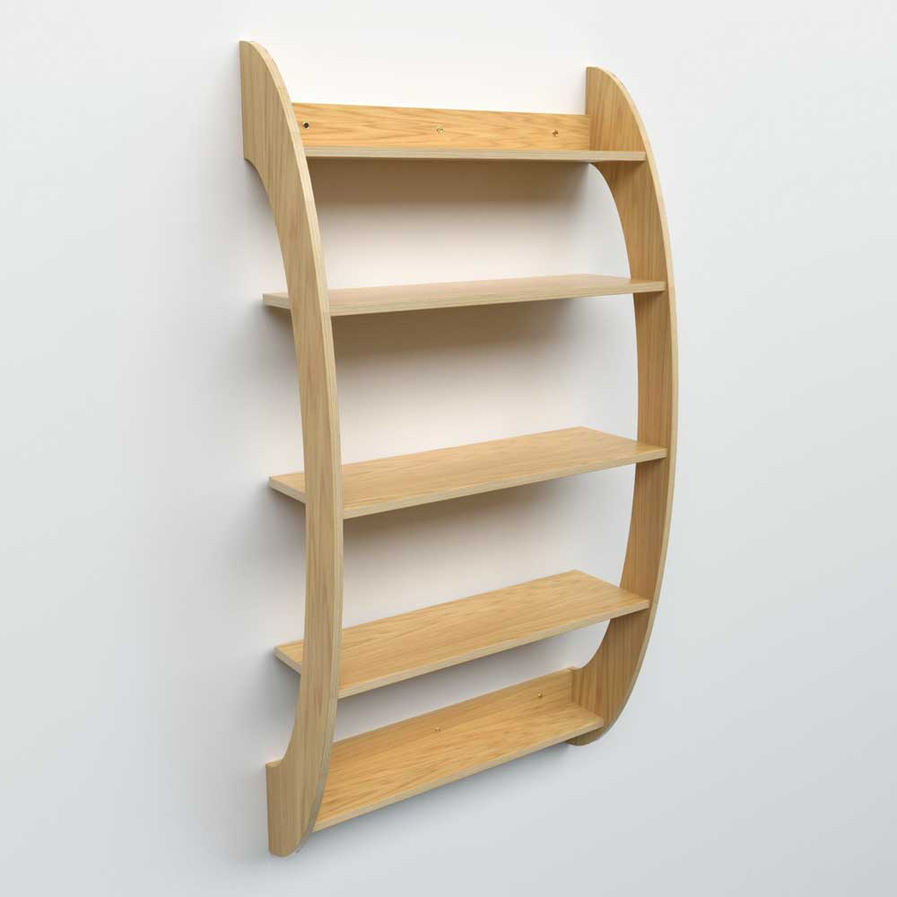 Curved Wall Shelves In Oak Or In Formicaâ® For Home Library - Dovetailors