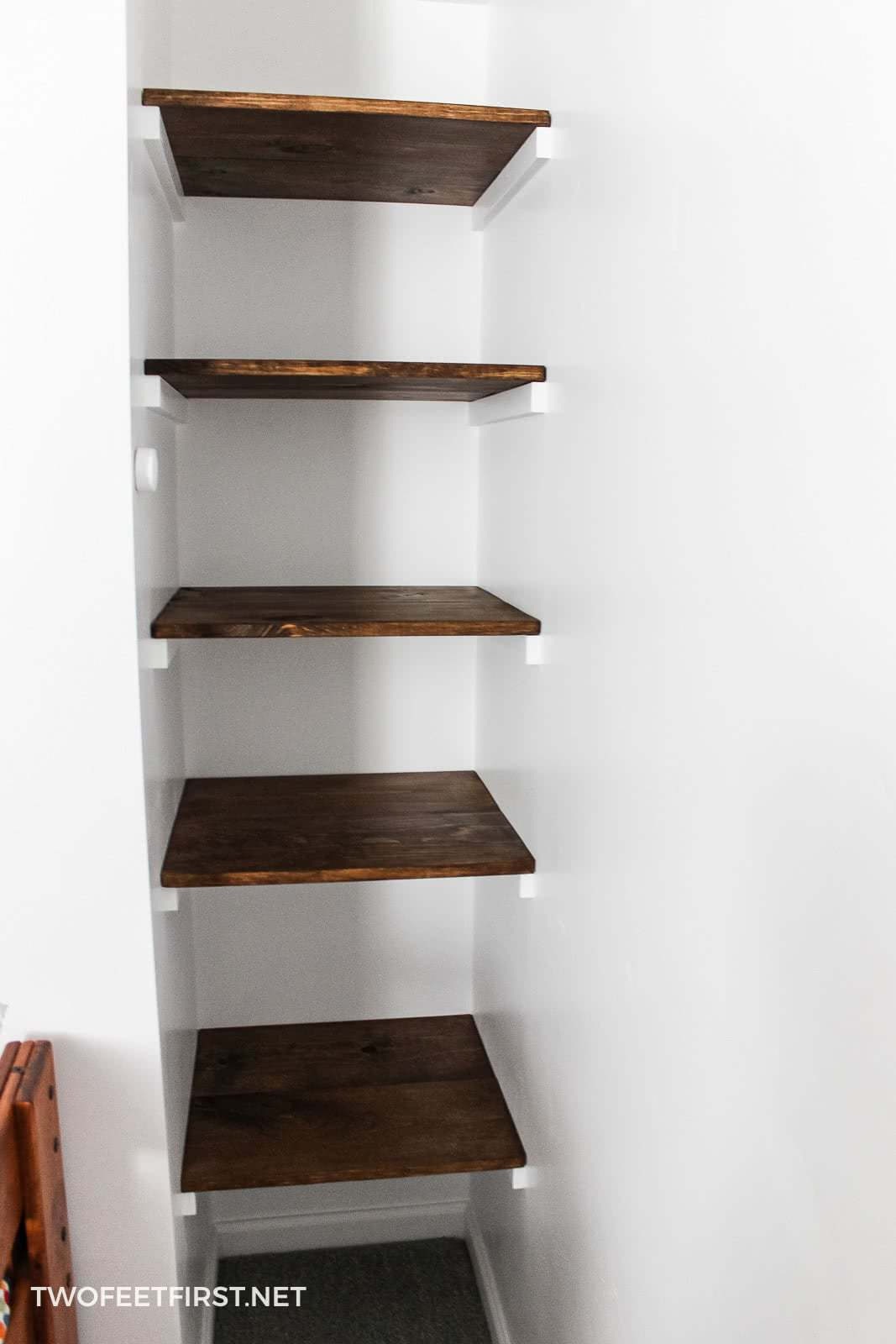 Build A Simple Wall To Wall Shelves