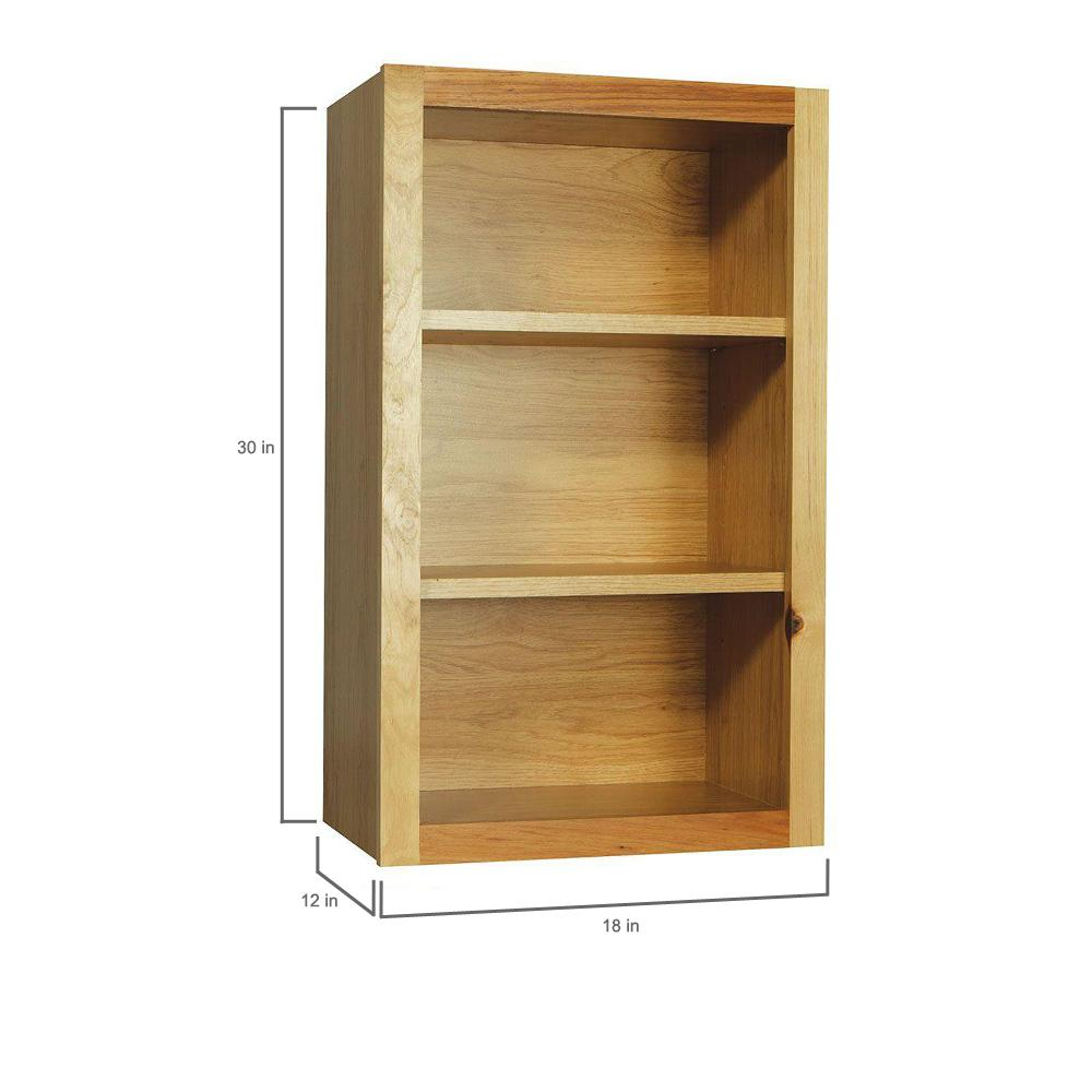 Hampton Bay Hampton Assembled 18x30x12 In Wall Flex Kitchen Cabinet With  Shelves And Dividers In Natural Hickory