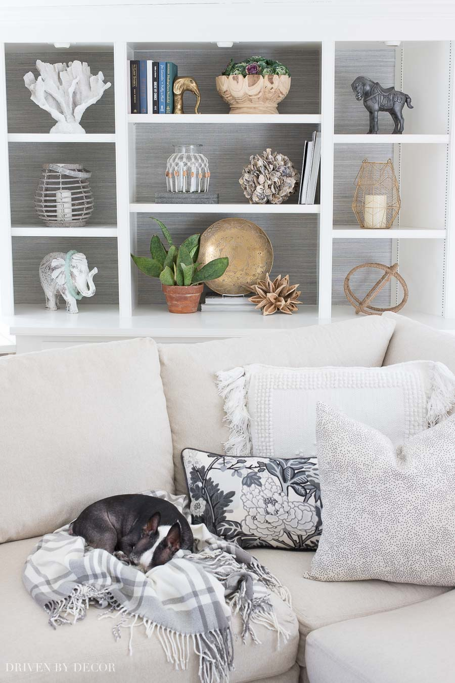 How To Decorate Shelves & Bookcases: Simple Formulas That Work