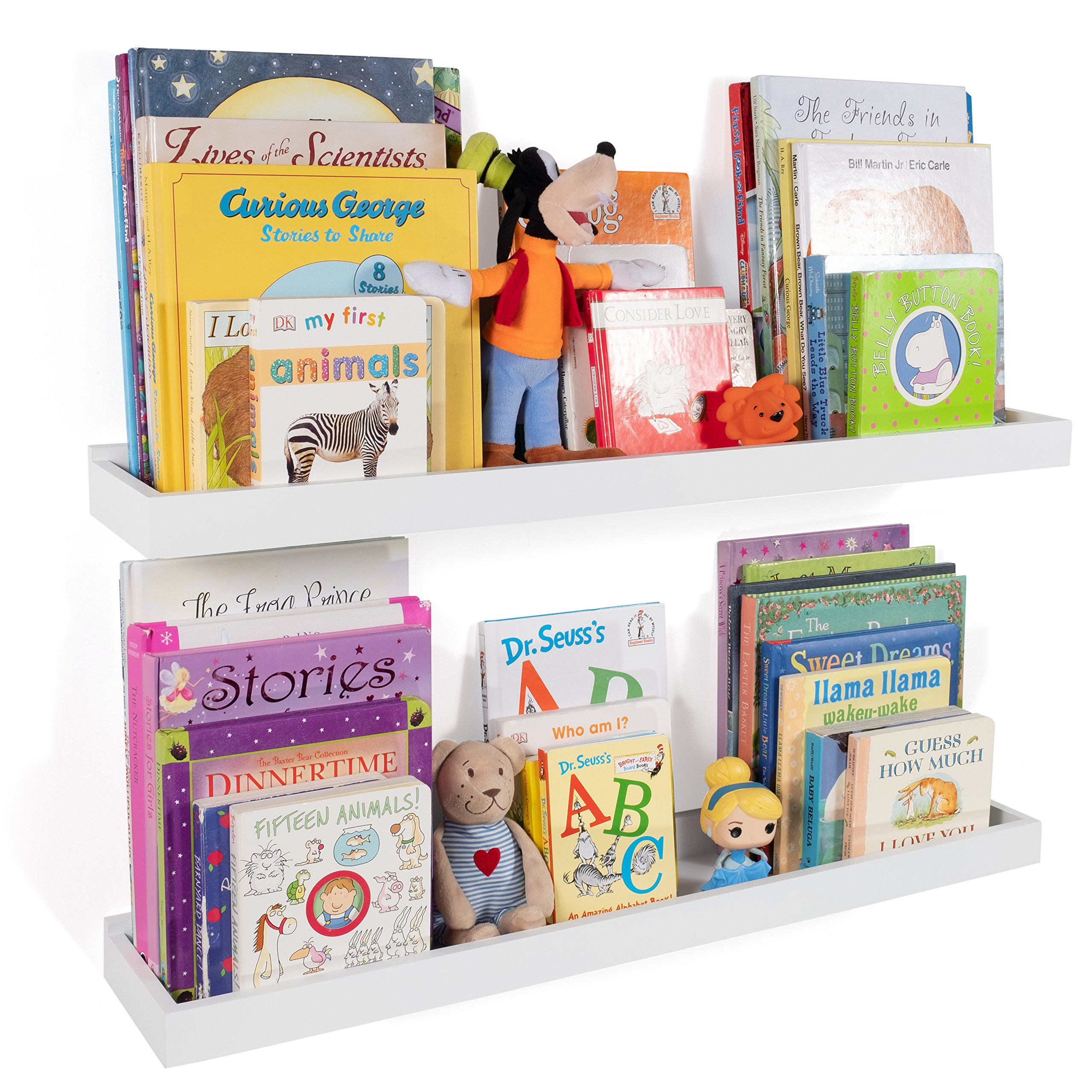 Details About Wallniture Nursery Room Decor - Kid's Room Floating Wall  Shelves - 31 Inch