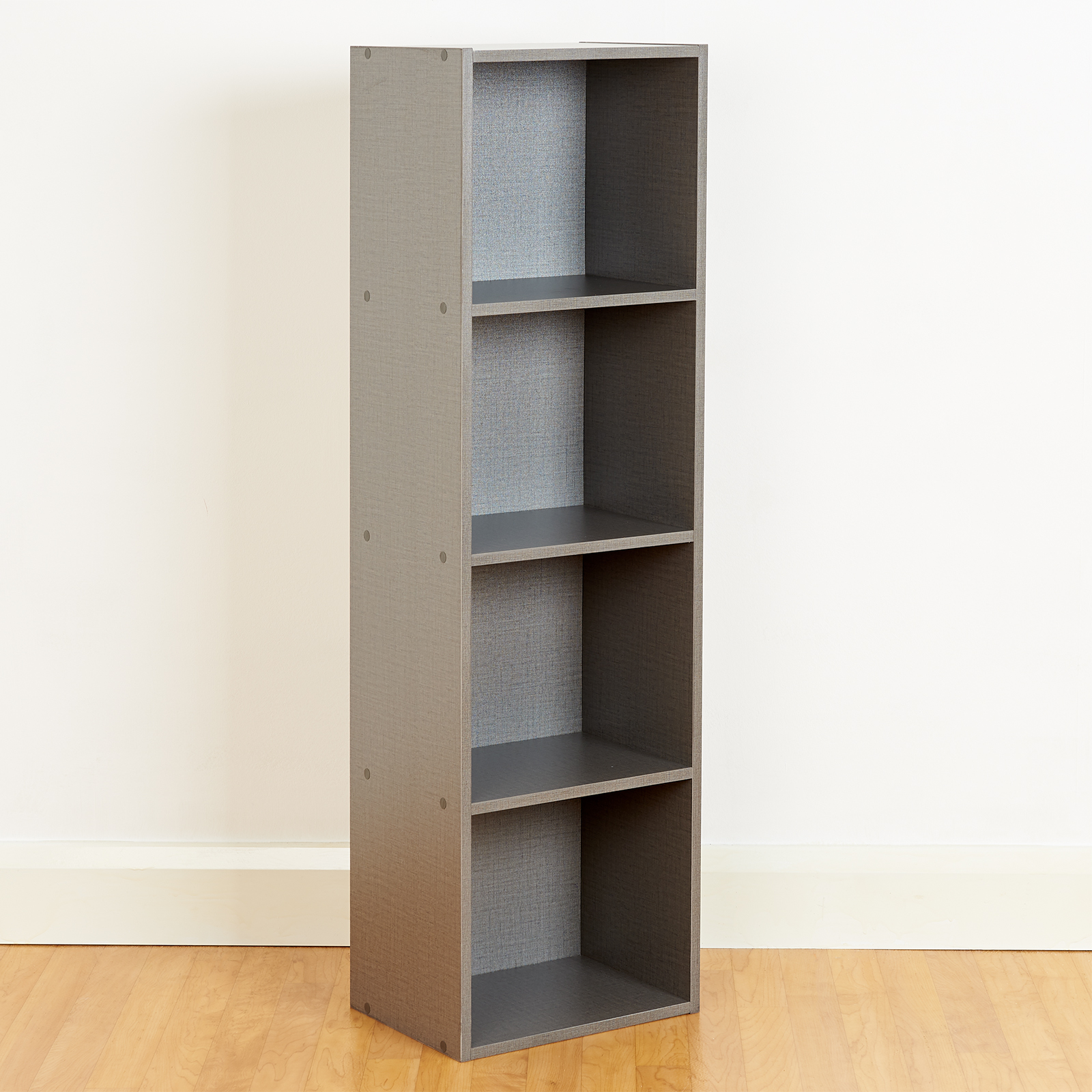 Details About 4 Tier Wooden Grey Cube Bookcase Storage Display Unit Modular  Shelving/shelves