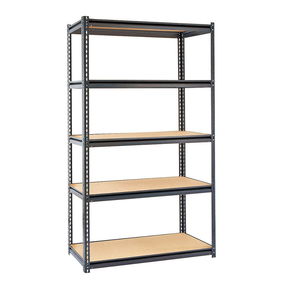 """Starter Boltless Shelving With Particle Board Decking, 5 Shelves, 48""""w X  18""""d X 84""""h"""