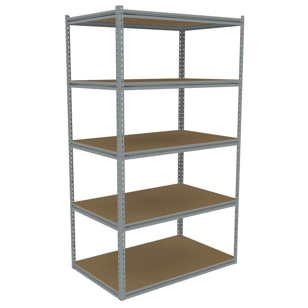 """Starter Boltless Shelving With Particle Board Decking, 5 Shelves, 36-5/8""""w  X 30-5/8""""d X 84""""h"""