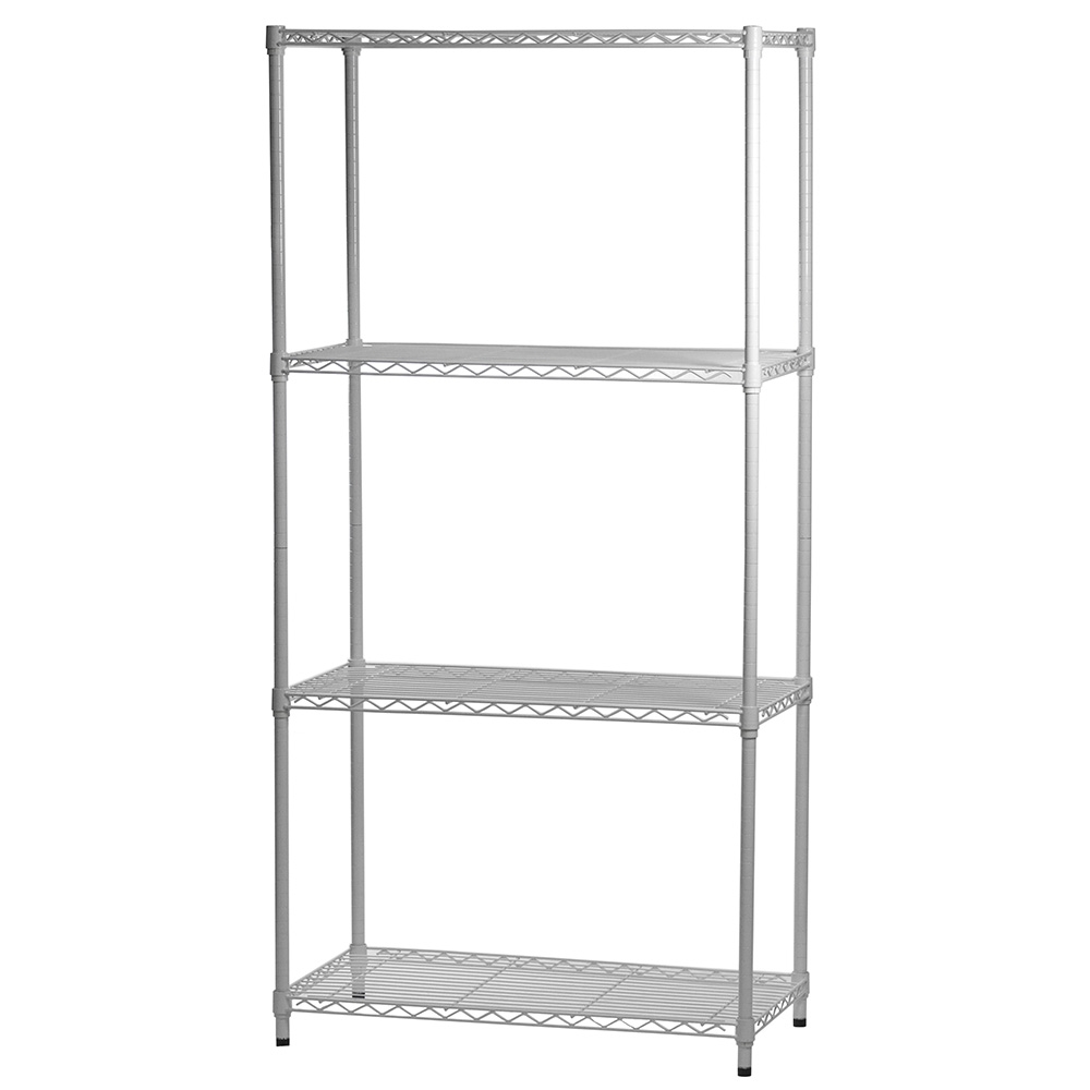 White Wire Shelving With 4 Shelves
