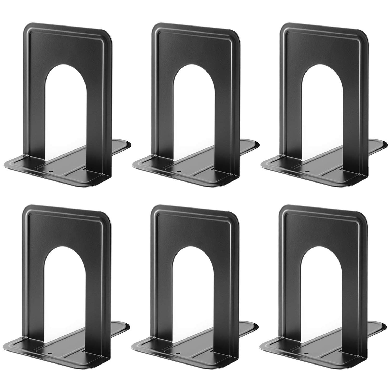 Alexbasic Bookends Supports Metal Book Ends Non-skid Heavy Duty Bookends  For Heavy Books Shelves Library Classroom School Office, 669 X 49 X 43  In,