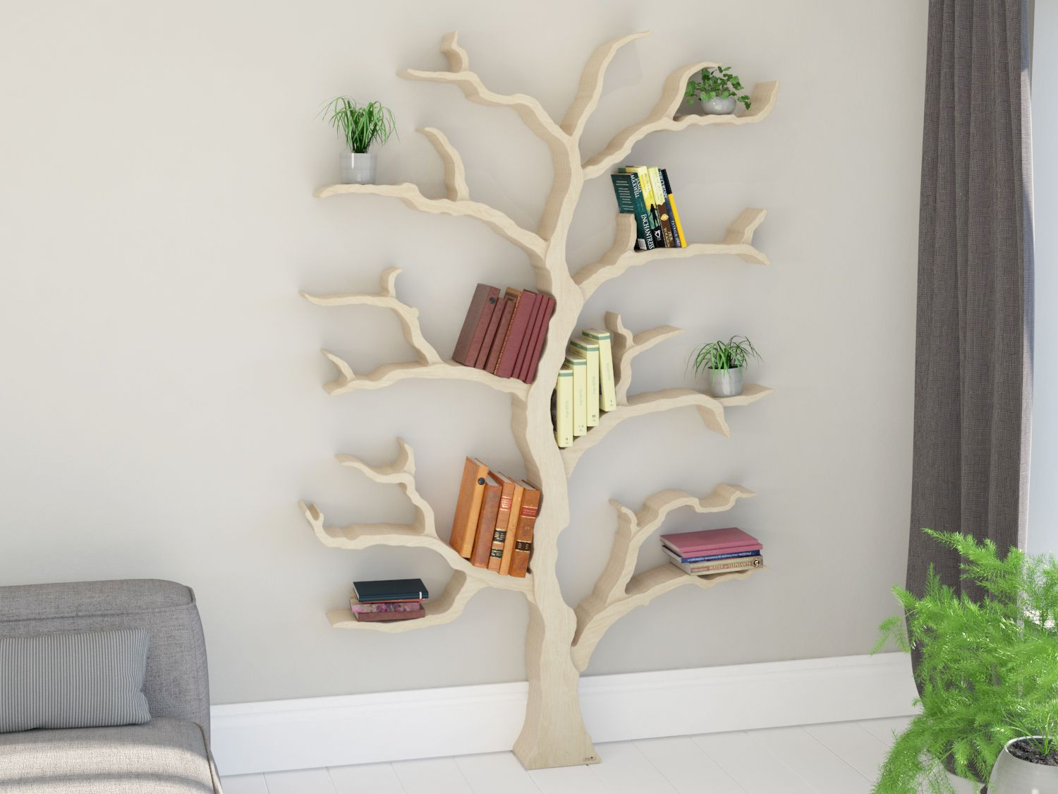 Tree Bookshelf With Also Creative Wall Bookshelves With Also Wall To