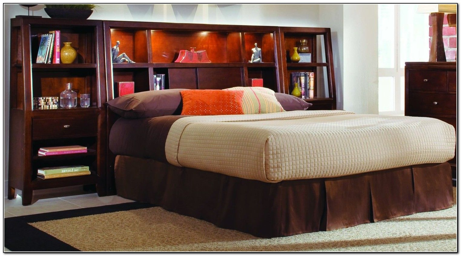 Pin By Joe Priest On Beds   Headboard With Shelves, King Size Bed