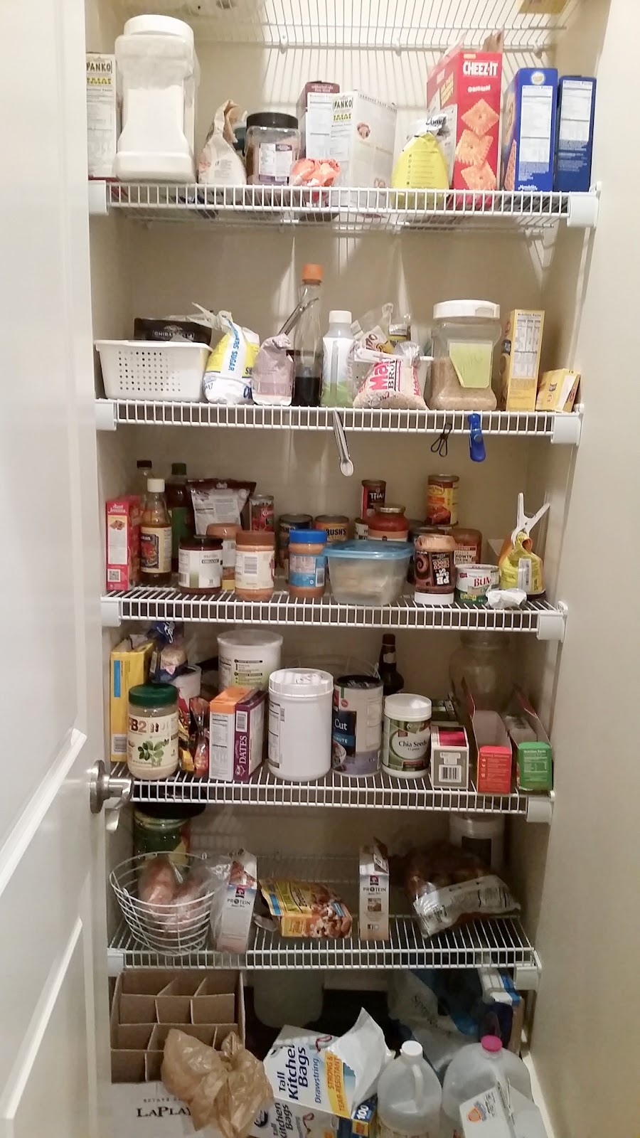 Kitchen Pantry Makeover, Replace Wire Shelves With Wrap Around Wood