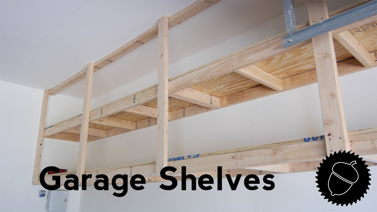 How To Build Garage Shelves   The Best Way!!
