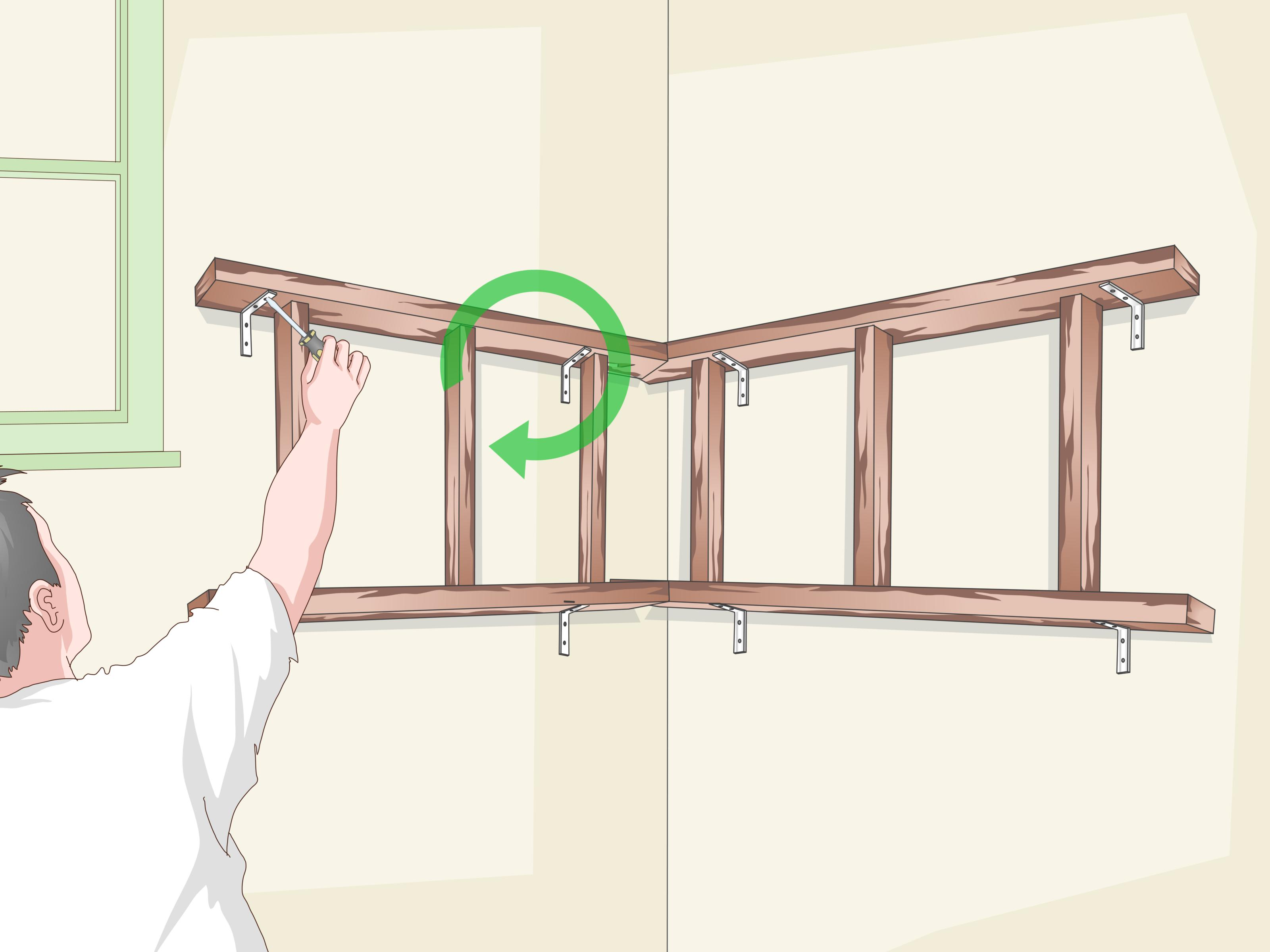 How To Build Suspended Corner Shelves (with Pictures) - Wikihow