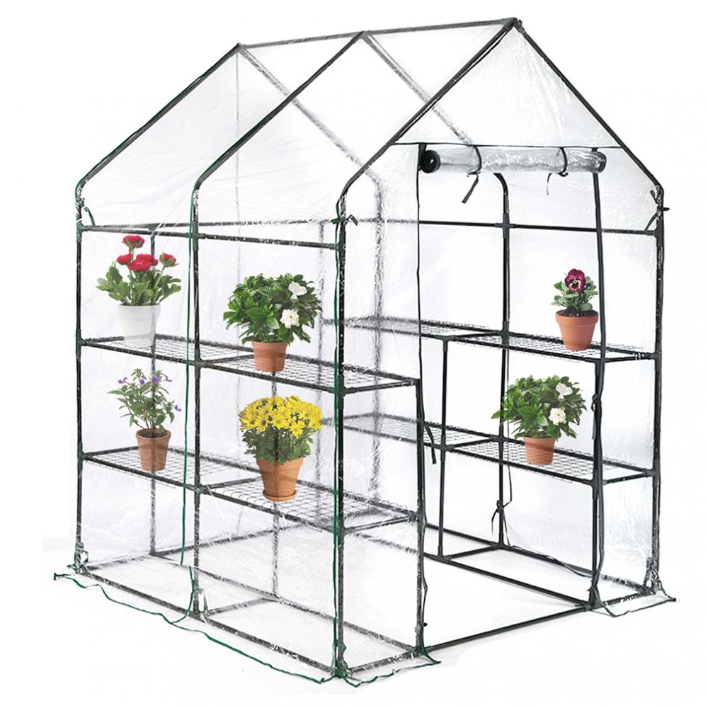 Details About Portable Mini Greenhouse Outdoor Plant Shelves Walk-in Garden  Winter Green House