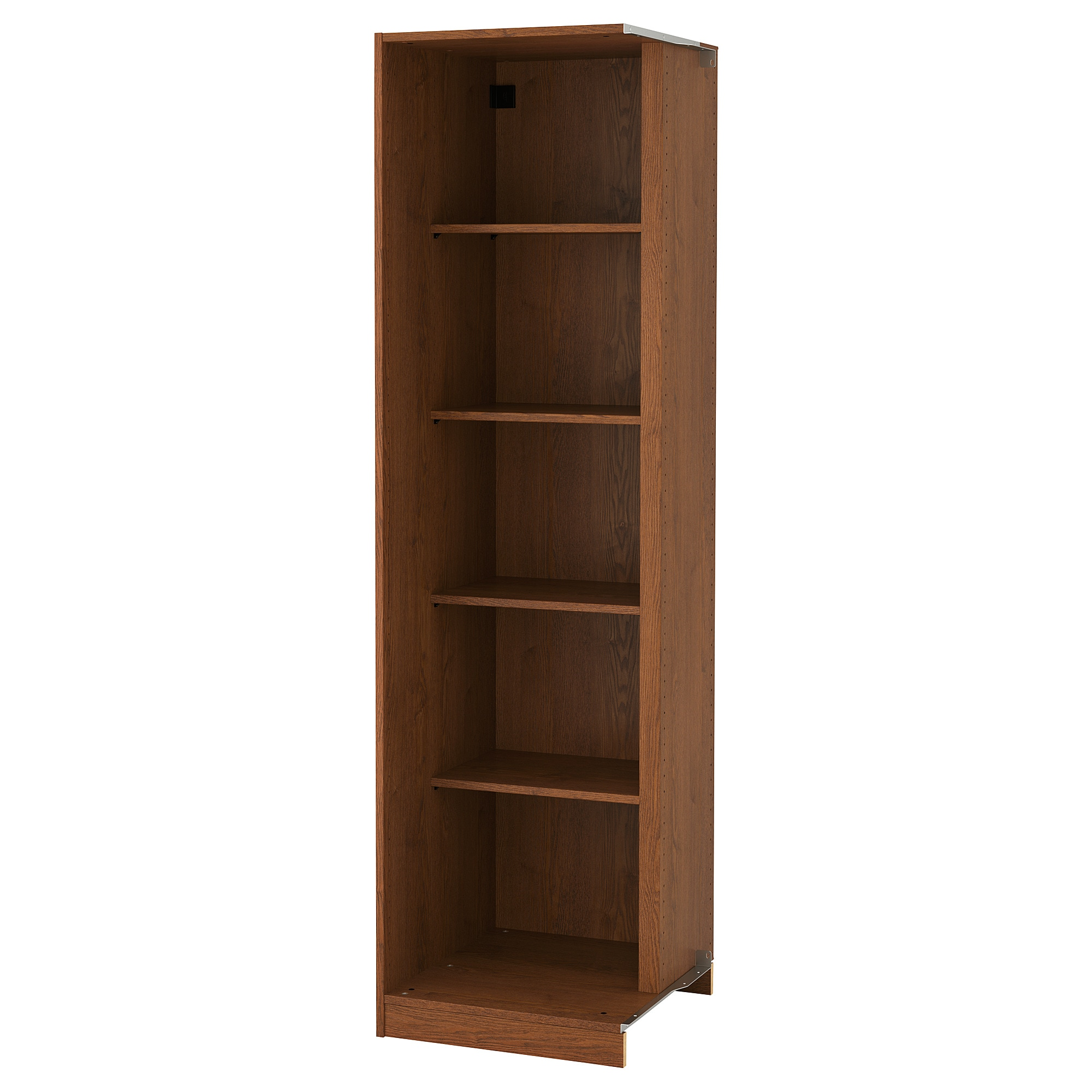 Pax Add-on Corner Unit With 4 Shelves, Brown Stained Ash Effect